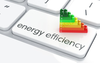 27293065 - 3d render of energy efficiency rating on computer keyboard